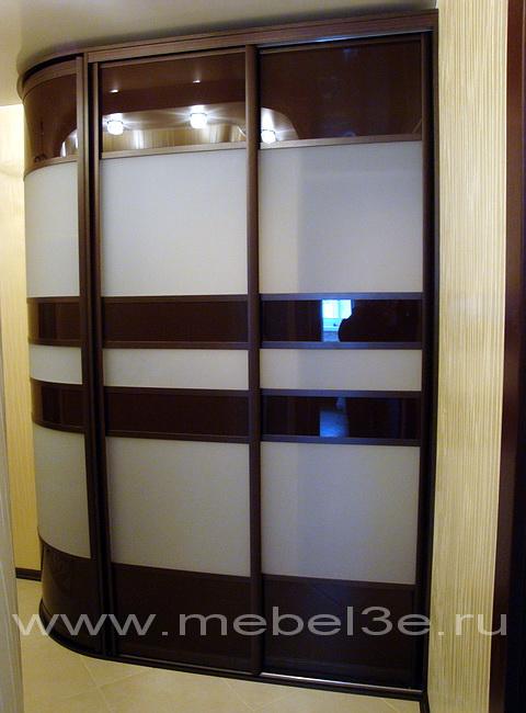 Радиусный шкаф 28