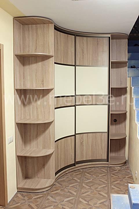 Угловой радиусный шкаф 1700*1700