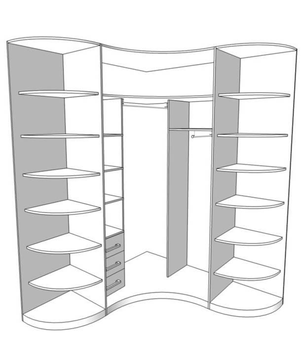 Радиусный шкаф 89-3
