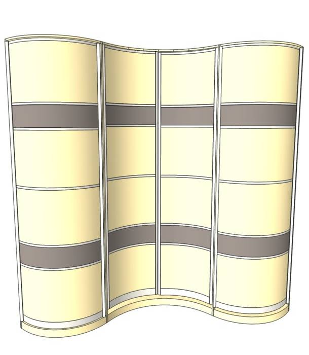 Радиусный шкаф 89-2